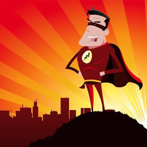 Super herói - macho vetor