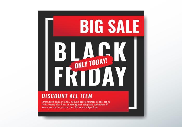 sexta-feira negra hoje grande venda vetor