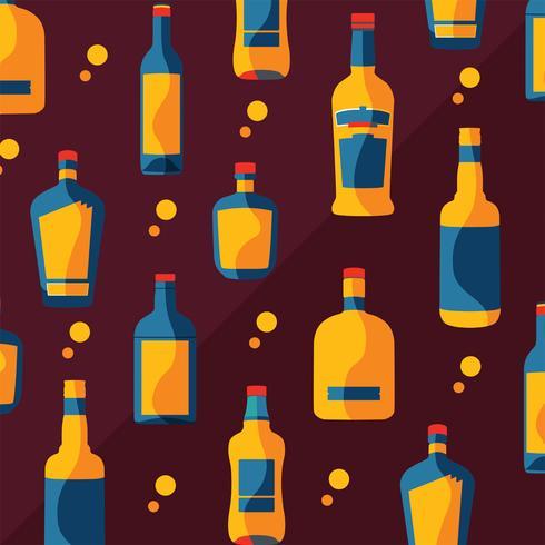 bourbon bottles pattern vector design