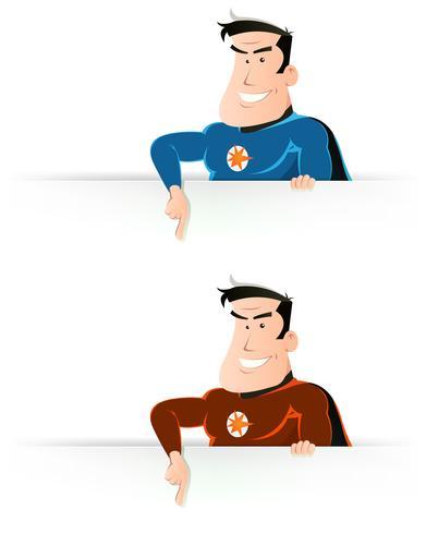 Sinal de apontador Super herói em quadrinhos vetor