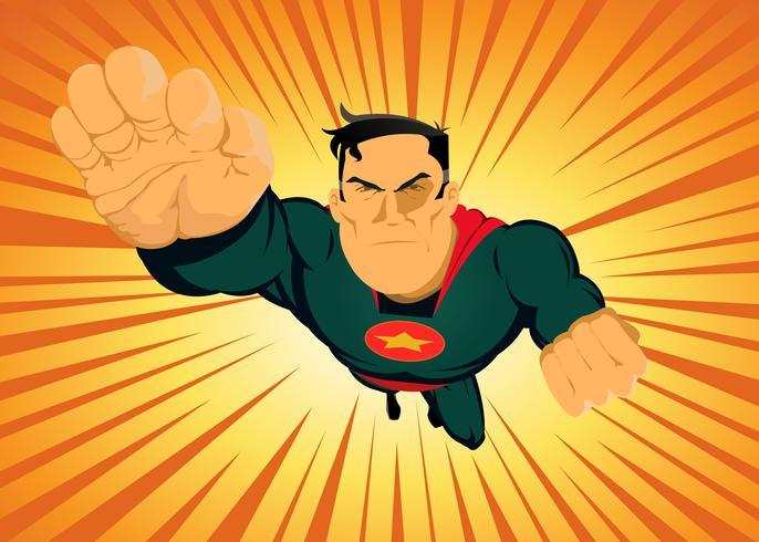 Super-herói em quadrinhos - rápido e furioso vetor