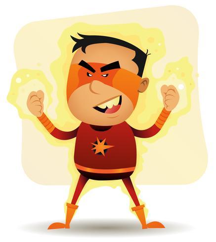 Power Boy - super-herói em quadrinhos vetor