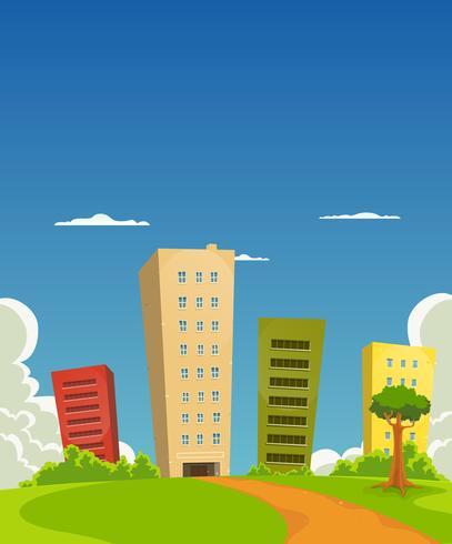 Prédio de apartamentos e escritórios vetor