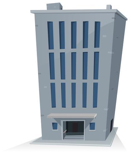 Edifício de escritórios dos desenhos animados vetor