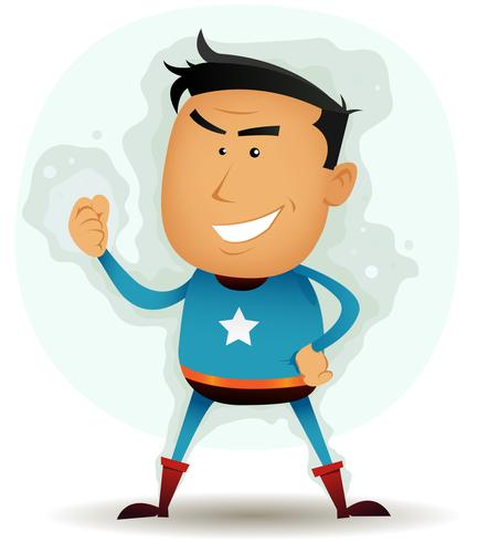 Personagem de super-herói em quadrinhos vetor