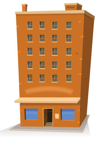 Edifício de loja de desenho animado vetor