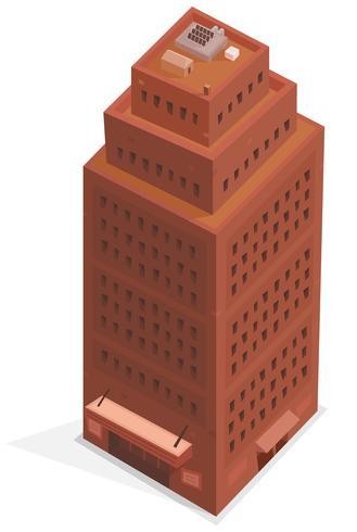 Edifício Isométrico Big Business vetor