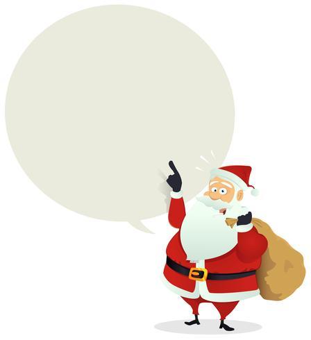 Entrega de Papai Noel - mensagem de bolha do discurso vetor