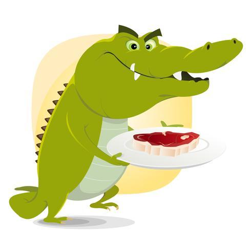 Almoço de crocodilo vetor
