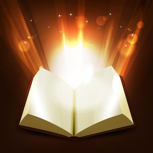 Livro Sagrado E Mágico vetor