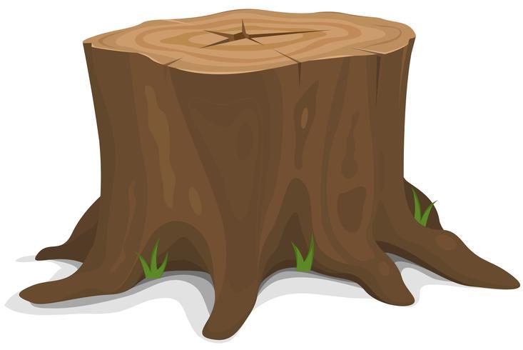Toco de árvore vetor