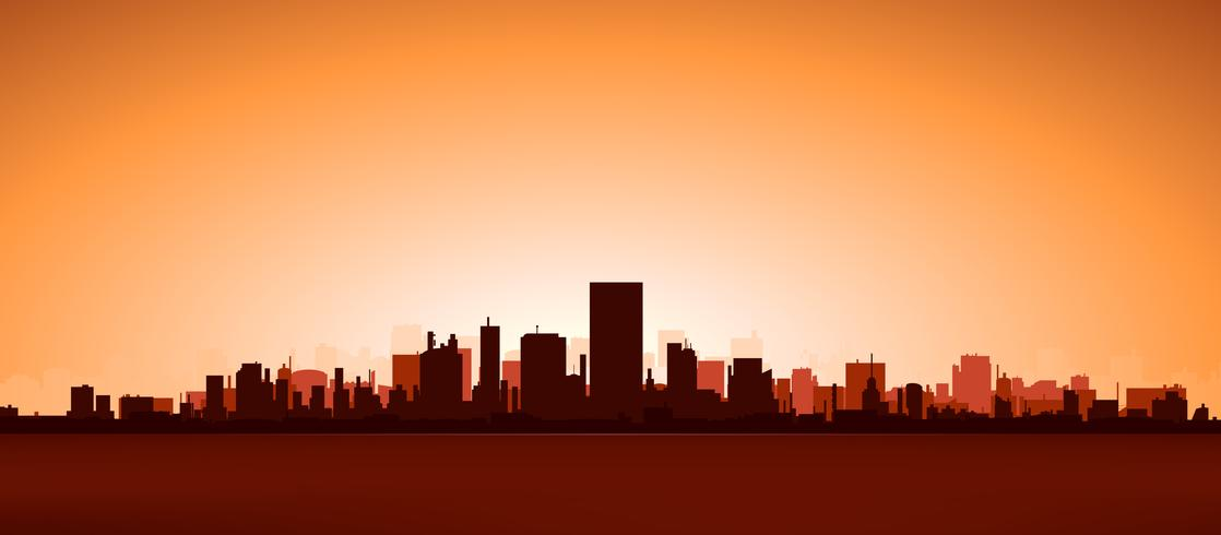 Cidade do calor vetor