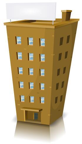 Edifício residencial dos desenhos animados vetor