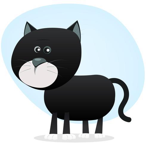 Gato preto dos desenhos animados vetor