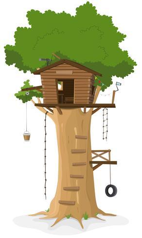 Casa na árvore vetor