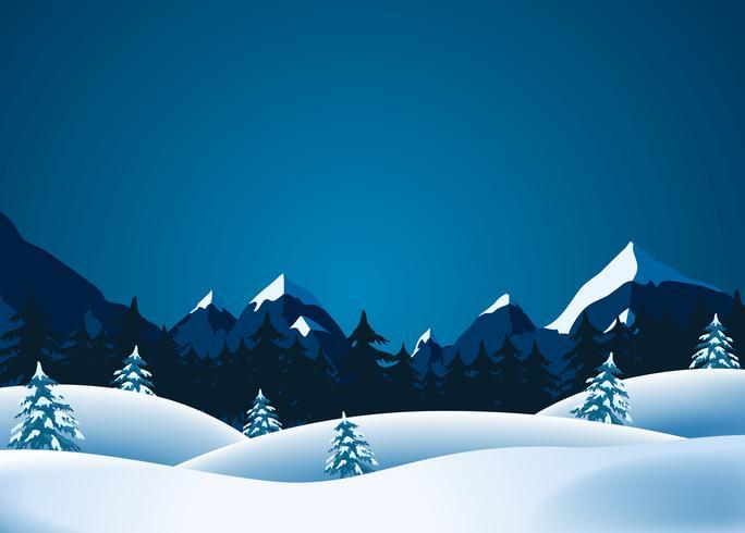 Lanscape de inverno vetor