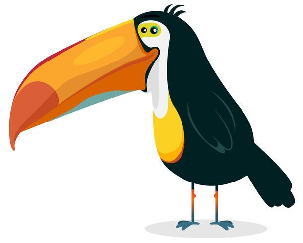 Tucano bonito dos desenhos animados vetor