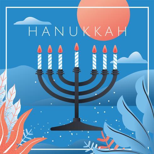 Design De Vetor De Hanukkah