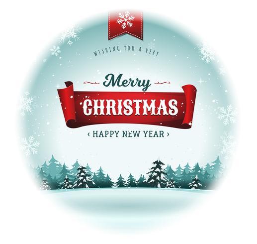 Feliz Natal Feriados Snowball vetor