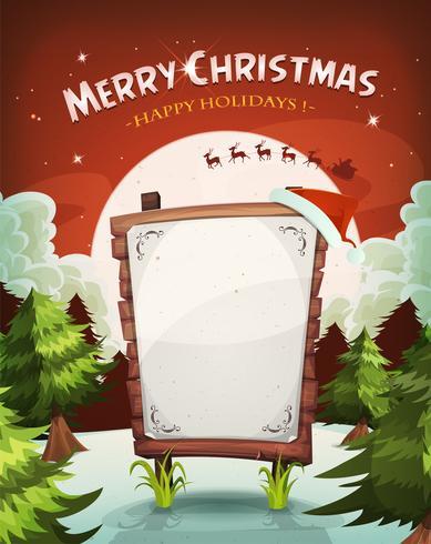 Fundo de férias feliz Natal vetor