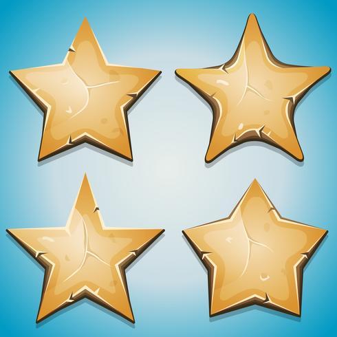 Estrelas De Areia Icons For Ui Game vetor