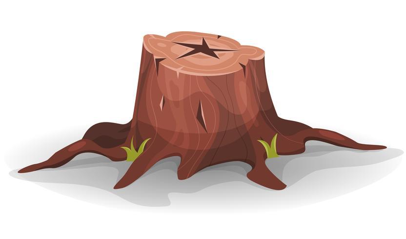 coto de árvore em quadrinhos vetor