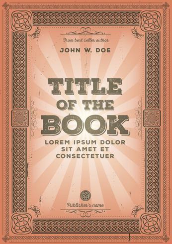 Design de capa de livro retrô vintage vetor