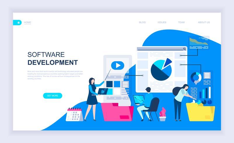 Banner da Web de desenvolvimento de software vetor