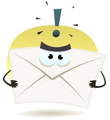 Ícone de e-mail irritado vetor
