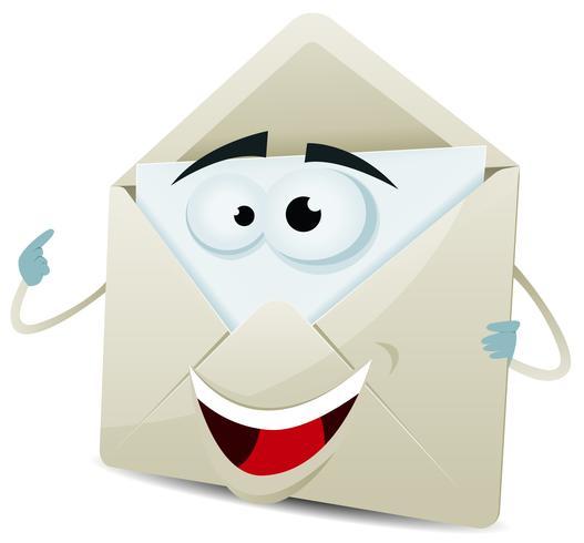Personagem de e-mail feliz dos desenhos animados vetor