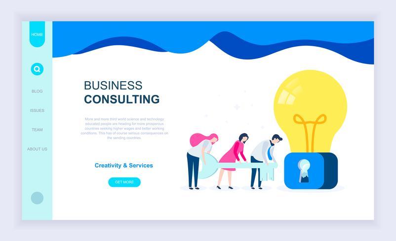 Banner da Web de consultoria de negócios vetor
