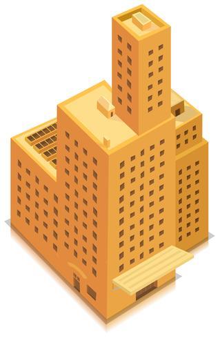 Grande edifício de negócios isométrico vetor