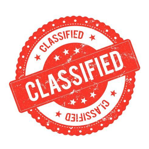 Certificado de selo de arquivo classificado vetor