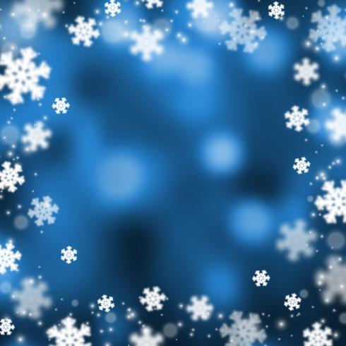 Flocos de neve natal abstarct fundo, ilustração vetor