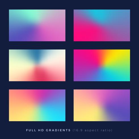 Fundos gradientes, tema de mistura de cores suaves vetor