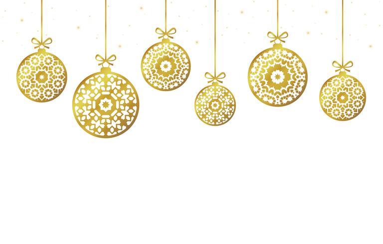 Enfeites de bolas de Natal, decoração de Natal, ilustração vetor