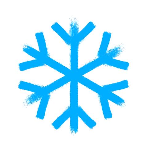 Símbolo de vetor de floco de neve, ícone de neve de Natal