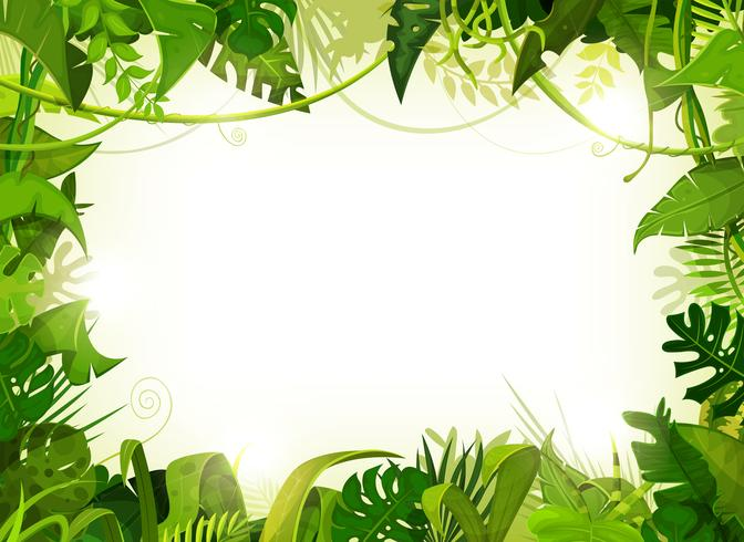 Fundo de paisagem tropical de selva vetor