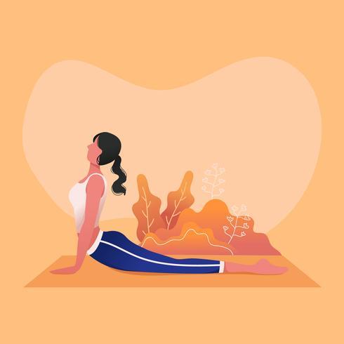 Vetor de aula de ioga