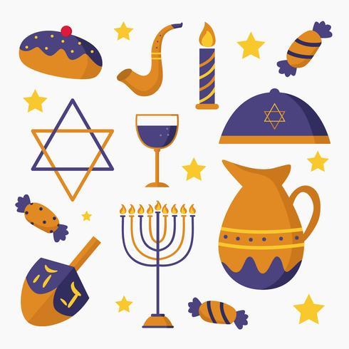 Elemento de feriado judaico vetor