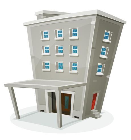 Casa de construção com escritórios ou apartamentos vetor