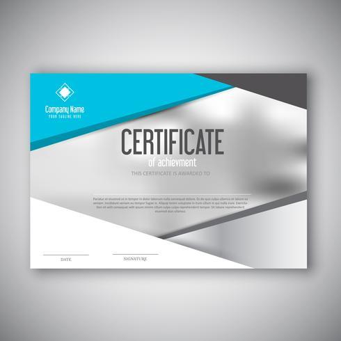 Design moderno certificado vetor