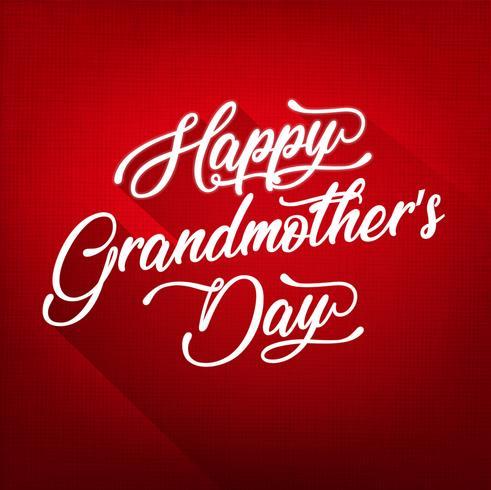 Fundo do dia da avó feliz vetor