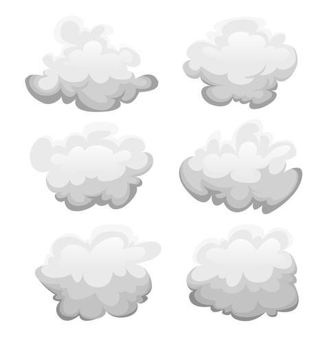 Conjunto de nuvens vetor