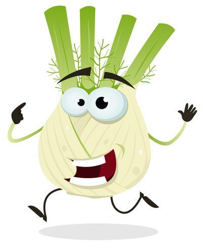 Caráter de erva-doce feliz dos desenhos animados vetor