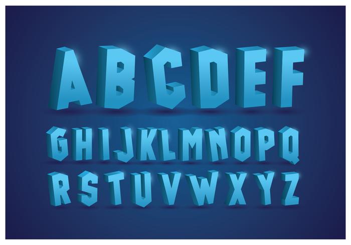 Alfabetos gelados com fundo azul vetor