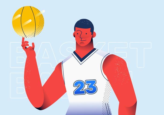 Jogador de basquete profissional em ilustração vetorial de ação vetor