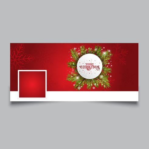 Capa de design de linha do tempo de Natal vetor