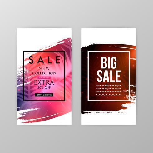 Banners do site de venda vetor