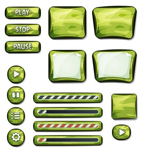 Elementos militares de camuflagem para jogo de interface do usuário vetor